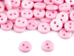 Guziki 7,5mm różowe