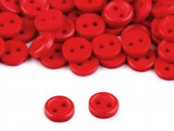 Guziki 7,5mm czerwone
