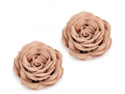 Róża ozdobna 40mm beżowa