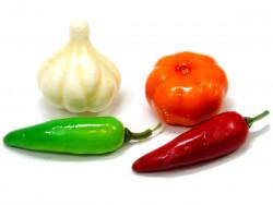 Warzywa ozdobne (czosnek dynia papryczka)