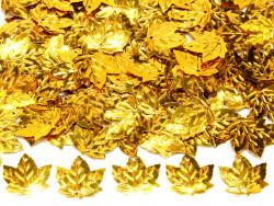Cekiny liście 21x23mm złote
