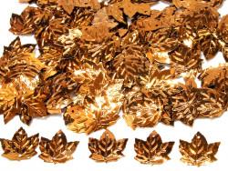 Cekiny liście 21x23mm brązowe jasne