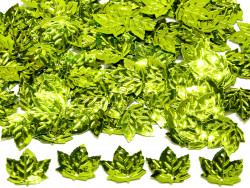 Cekiny liście 21x23mm zielone jasne