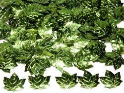 Cekiny liście 21x23mm zielone ciemne