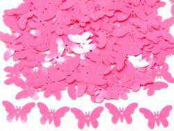 Cekiny motylki 16x23mm różowe