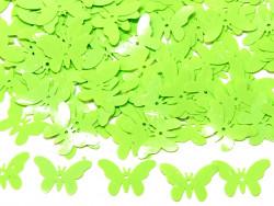 Cekiny motylki 16x23mm zielone pistacjowe