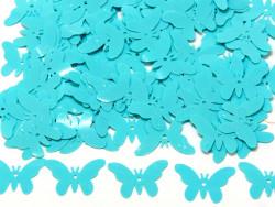 Cekiny motylki 16x23mm błękitne