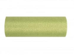 Tiul z brokatem zielony 15x25cm