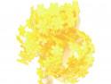Aplikacje kwiatki 20mm - cytrynowe