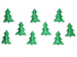 Aplikacje choinki 40mm zielone