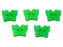 Guziki motylki zielone