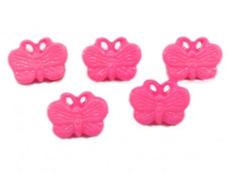Guziki motylki różowe
