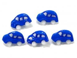 Guziki autka niebieskie