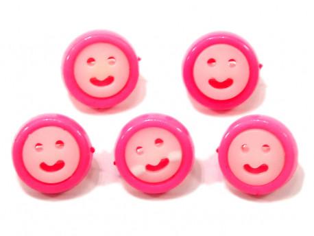 Guziki buźki różowe