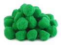 Pompony ciemne zielone 25mm - 10szt