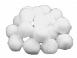 Pompony białe 25mm - 10szt