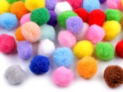 Pomponiki mix kolorów 15mm - 20szt
