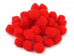 Pomponiki czerwone 15mm - 20szt