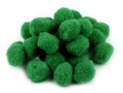 Pomponiki ciemno zielone 15mm - 20szt