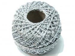 Sznurek / kordonek z lureksem srebrny