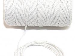 Sznurek bawełniany skręcany 1,5mm biały 100m