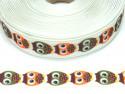 Wstążka rypsowa 20mm sowy białe