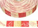 Wstążka rypsowa 20mm ornamenty świąteczne eko