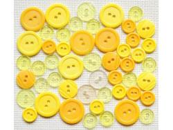 Guziki - Żółty