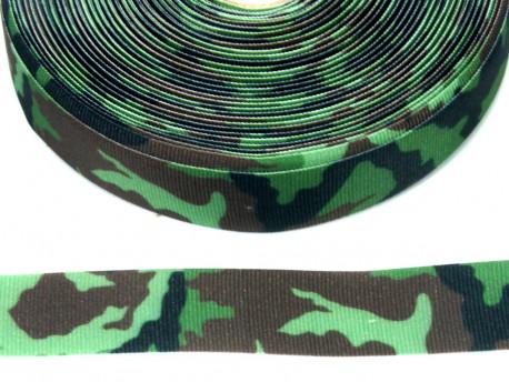 Wstążka rypsowa 20mm moro zielone