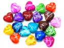 Koraliki serca 21x19mm mix kolorów 20szt
