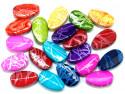 Koraliki jajka 24x15mm mix kolorów 20szt