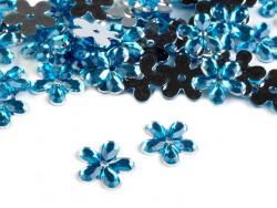Kwiatki akrylowe 12mm niebieskie