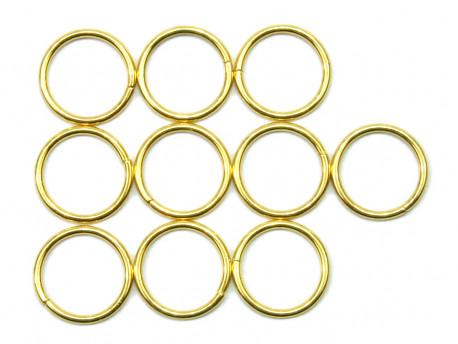 Kołko metalowe 15mm złote