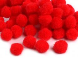 Pomponiki 11mm czerwone 100szt