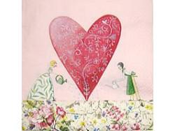 Serwetki Decoupage - Ryte serce