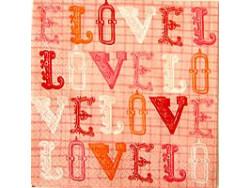 Serwetki Decoupage - LOVE napisy