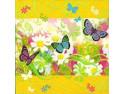 Serwetki Decoupage - Motylki na łące