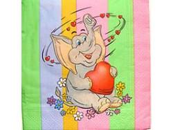 Serwetki Decoupage - Zakochany słoń