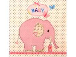 Serwetki Decoupage - Różowy słoń