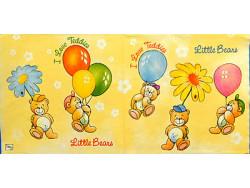 Serwetki Decoupage - Misie z balonami