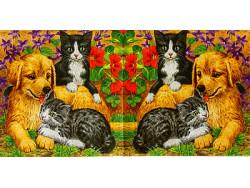 Serwetki Decoupage - Pies i koty
