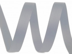 Tasiemka rypsowa 6mm szara srebrna 27,4m