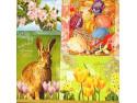 Serwetki Decoupage - Zajączek i tulipany