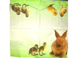 Serwetki Decoupage - Zajączek i kurczaczki