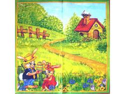Serwetki Decoupage - Wielkanoc Zajączki