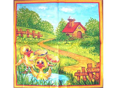 Serwetki Decoupage - Wielkanoc Kurczaczki