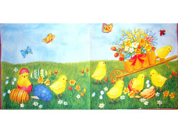 Serwetki Decoupage - Wielkanocny ogród