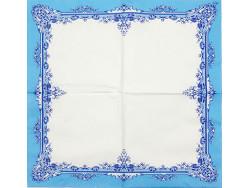 Serwetki Decoupage - Niebieski ornament
