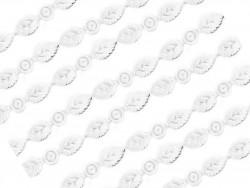 Aplikacje listki 39mm białe