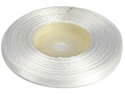 Wstążka satynowa 6mm - biała